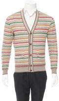 Missoni Patterned Rib Knit-Trimmed Cardigan