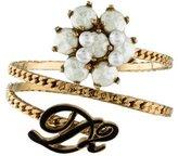 DSQUARED2 Faux Pearl & Enameled Curb Chain Bracelet