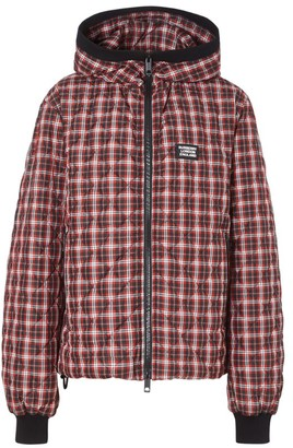 Burberry Check Puffer Jacket