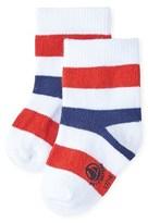 Petit Bateau Baby boy socks with three-color stripes