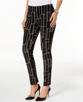 Alfani Printed Skinny Pants, Only at Macy's