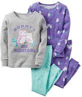 Carter's Baby Girl 4-pc. Print Pajama Set