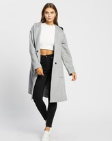 Thumbnail for your product : Atmos & Here Atmos&Here - Women's Grey Winter Coats - Annabelle Wool Blend Hooded Coat - Size 8 at The Iconic