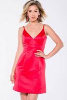 Jovani JVN39353 Satin V-Neck Sheath Dress