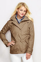 Lands' End Women's Storm Raker Jacket-Ivory Ponte Dot