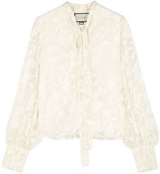 Alexis Julita ivory devore blouse