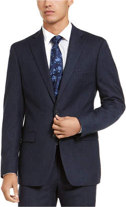 Calvin Klein Men X-Fit Slim-Fit Stripe Flannel Suit Jacket