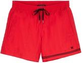 DANWARD Grosgrain stripe swim shorts