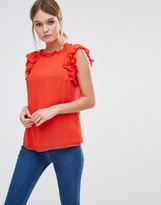 Oasis Ruffle Sleeveless Shell Top