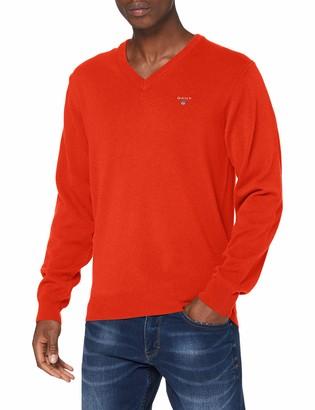 Gant Men's Superfine Lambswool V-Neck Pullover Sweater
