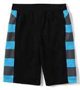 Classic Little Boys Graphic Active Mesh Shorts-Black