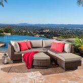 Christopher Knight Home Branson Outdoor 6-piece Multi-brown Wicker Sofa Set