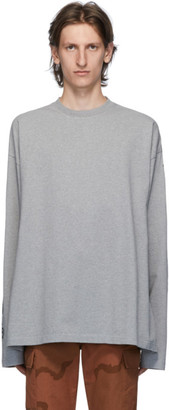 Vetements Grey Gothic Font Long Sleeve T-Shirt
