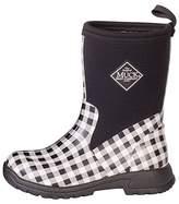 Muck Boot Kid's Breezy Mid Height Boot, Black/White Gingham