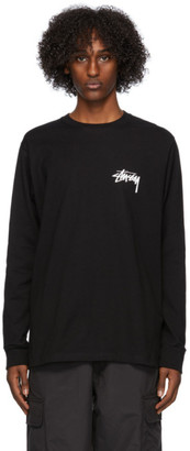 Stussy Black Peace and Love Long Sleeve T-Shirt