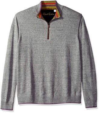 Robert Graham Men's Cavalry Quarter Zip Sweater