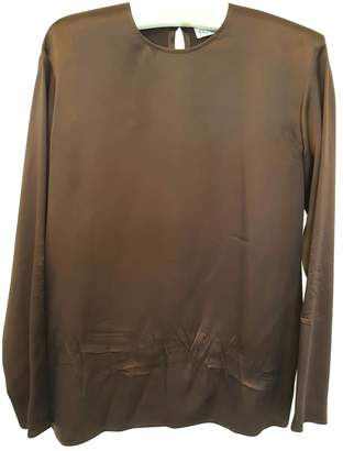 Freda Burgundy Silk Top for Women