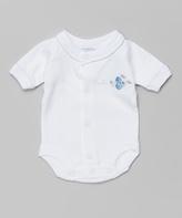 SpaSilk White & Blue Plane Bodysuit