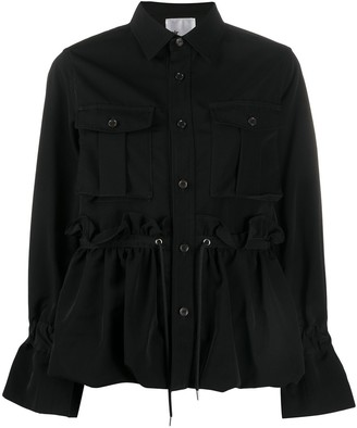 Comme des Garcons Buttoned Drawstring-Waist Jacket