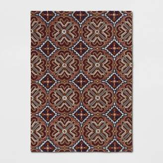 Threshold Latimer Orosia Hand Tufted Rug Coral Red