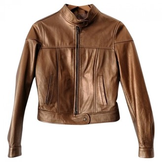 Dna Gold Leather Jacket for Women