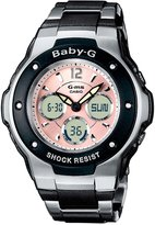 Casio Women's Baby-G MSG300C-1B Silver Resin Quartz Watch with Dial