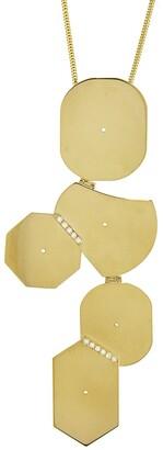Lito Fine Jewelry Geometric Shapes Diamond Yellow Gold Necklace