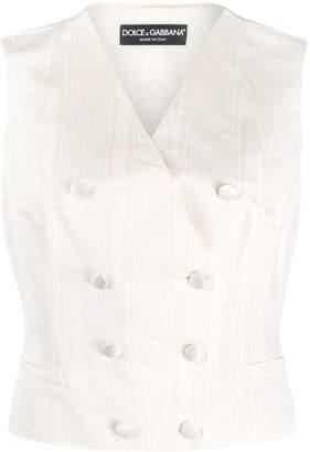 Dolce & Gabbana double-breasted faille tuxedo vest