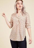 ModCloth Hosting for the Weekend Tunic in Taupe in S