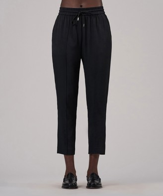 Atm Viscose Twill Cropped Pull-On Pant - Black