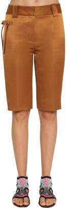 Prada Stretch Silk Blend Duchesse Shorts