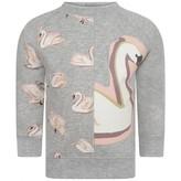 Stella McCartney KidsBaby Girls Grey Swans Print Betty Sweater