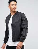 Brave Soul Ma1 Bomber Tiger Embroidery Jacket