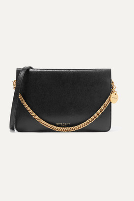 Givenchy Cross 3 Textured-leather And Suede Shoulder Bag - Black