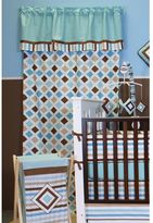 Bacati Mod Diamonds and Stripes Layered Curtain Panel