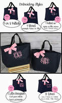 Etsy 9 Personalized Bridesmaid Tote, Bridesmaid Gift Tote Bag- Wedding Party Gift- Bridal Party Gift-