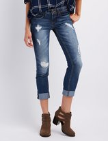 Charlotte Russe Dollhouse Distressed Cropped Skinny Jeans