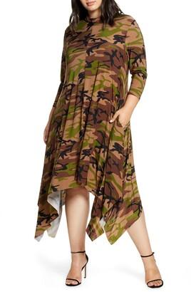 Coldesina Sandi Print Handkerchief Dress