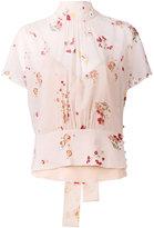 RED Valentino floral blouse - women - Silk/Spandex/Elastane - 42