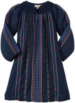 Pink Chicken Ava Dress (Toddler/Kid) - Navy W/ Multi Embroidery-6 Years