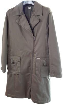 Calvin Klein Green Cotton Trench Coat for Women