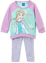 Children's Apparel Network Frozen Purple 'I'm the Queen' Top & Leggings - Toddler & Girls