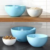 Crate & Barrel Marlo Aqua Melamine Bowls, Set of 5