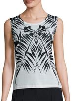 Escada Printed Wool-Blend Top