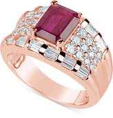 Macy's Ruby (1-3/4 ct. t.w.) and Diamond (1-1/6 ct. t.w.) Ring in 14k Rose Gold