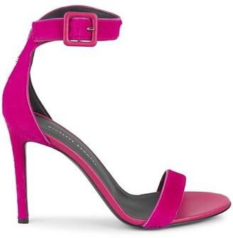 Giuseppe Zanotti Calf Hair Ankle-Strap Heeled Sandals