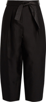 Elizabeth and James Anderson silk and wool-blend cocoon trousers