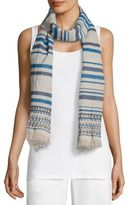Eileen Fisher Striped Organic Cotton Scarf
