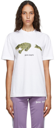 Palm Angels White Croco T-Shirt