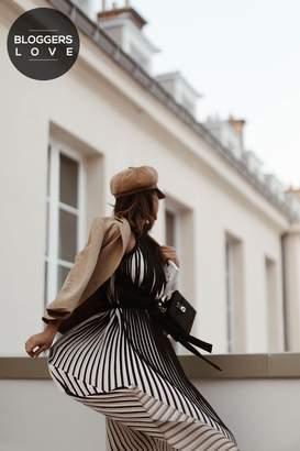 Little Mistress Black and Cream Maxi Dress